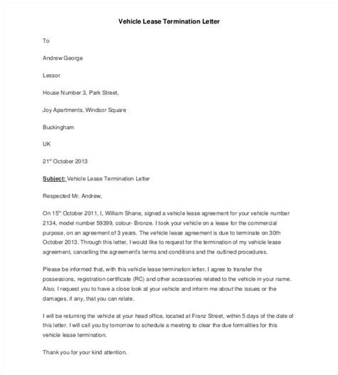 Sle Of Apartment Lease Termination Letter Lease Termination Letter Templates 18 Free Sle