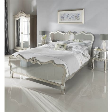 mirrored beds kingsize argente mirrored bed glass furniture online