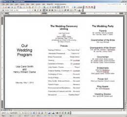 Sample wedding program sample conference program sample dinner program