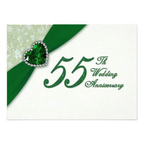 damask 55th wedding anniversary invitation 5 5 quot x 7 5 quot invitation card zazzle