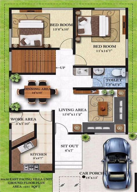 house design 30x50 site 30 x 40 floor house plans