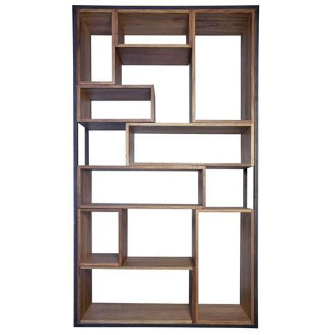 lakeville metal distressed wood industrial loft bookcase