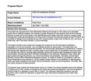 Progress Report Templates 7 free progress report templates excel pdf formats