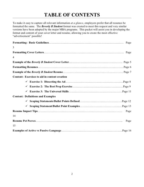 Contents Of A Cover Letter by Beverly B Student Guide To Resumes And Cover Letters