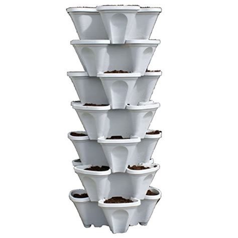 24 large vertical gardening planters use mr stacky pots