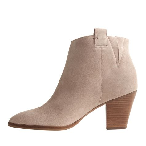 j crew eaton suede ankle boots in brown lyst