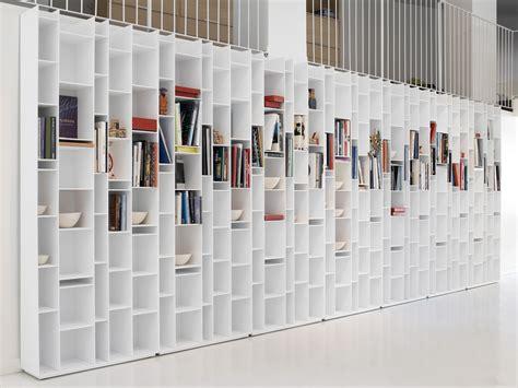 random bookcase lacquered white by mdf italia