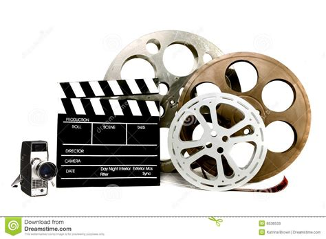 related video studio film related items on white stock image image
