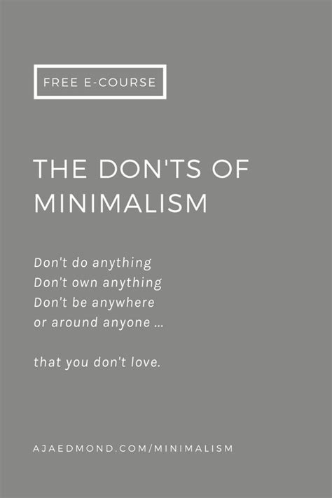 minimalist way of living what not to do if you want to live like a minimalist aja