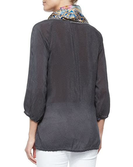 3 4 Sleeve Embroidered Blouse johnny was collection 3 4 sleeve embroidered blouse