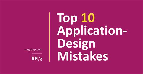 application design group top 10 application design mistakes