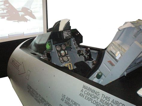 f 16 simulator cockpit for sale world s coolest party toy an f 16 flight simulator