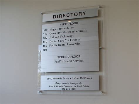 Sliding Glass Walls by Directories And Letter Boards National Visual Systems