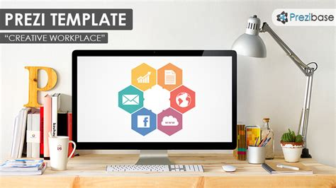 desk templates creative workplace prezi template prezibase