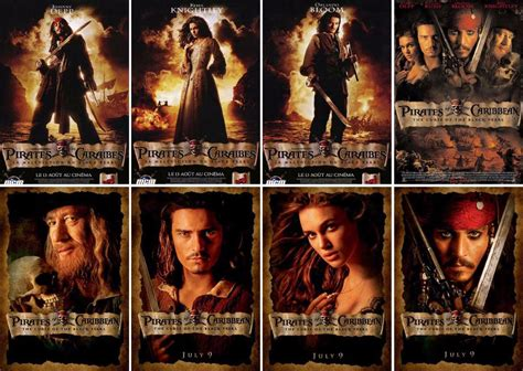 the pirates of the caribbean series eight postcard greeting cards wholesale 8 pcs set