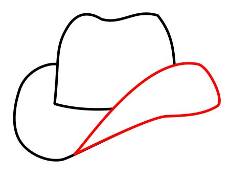 Rectangle by Drawing A Cartoon Cowboy Hat