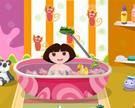 bathtub games dora baby bath