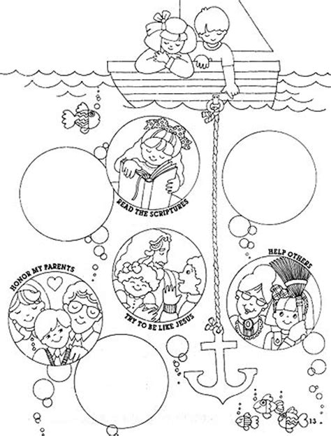 lds coloring pages obedience keep the commandments liahona