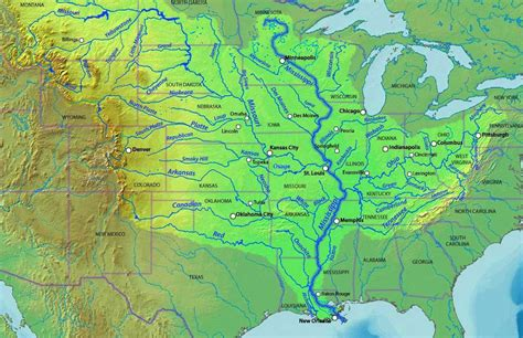 united states river map us mississippi river map whatsanswer