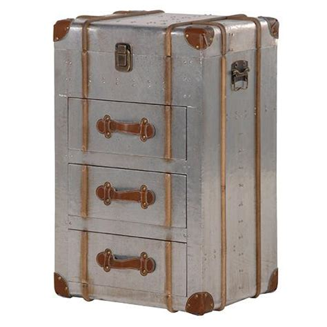 Leather Trunk Chest Of Drawers by The Cairo Metal Leather Trunk Chest Of Drawers