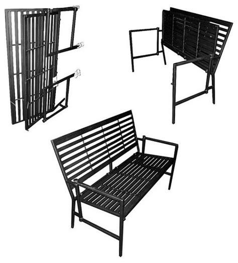 iron folding black slatted garden bench traditional