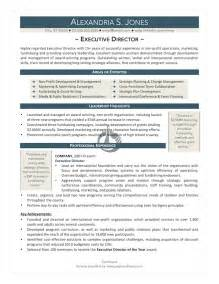 Executive Director Resume Template by Non Profit Executive Director Resume Template Ebook Database