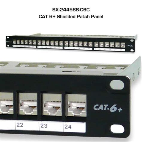 Patch Panel Cat 5 E signamax shielded cat5e cat6 and cat 6a patch panels