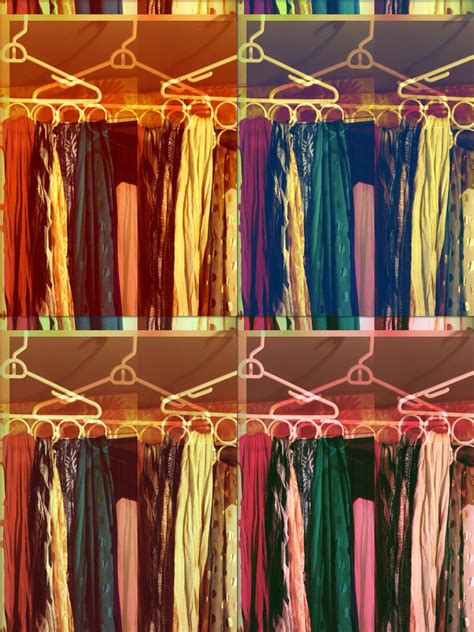 scarf curtain holders diy scarf holder hanger and shower curtain rings trusper