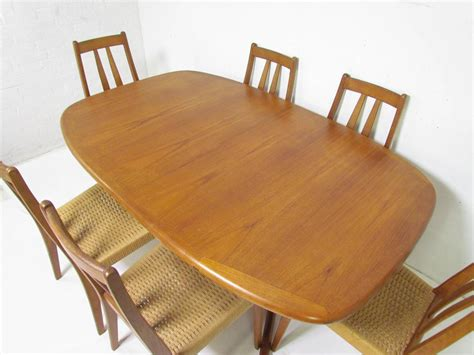expandable dining room sets danish teak dining set expandable oval table and six