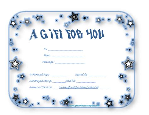 gift voucher templates gift certificate templates