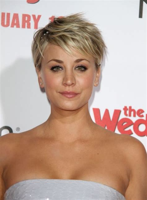 kaley cuoco why hair cut kaley cuoco hairstyles haircuts short pixie bangs updos