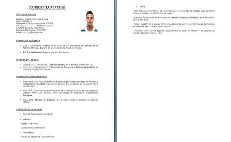 Modelo Curriculum Vitae Formato Fonacit formato curriculum vitae cvs