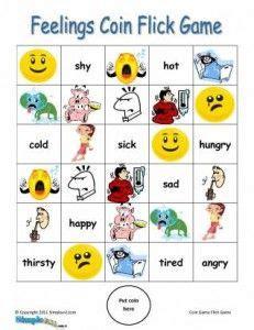 feelings and emotions esl game printable english coin