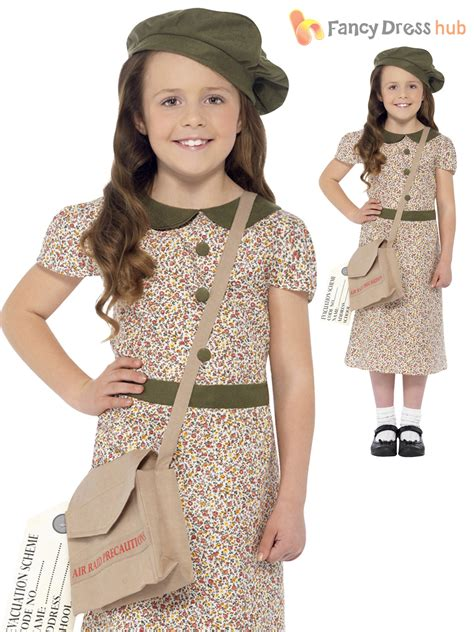 libro evacuee a real life girls 1940s ww2 evacuee costume world war two ve 40 s kids fancy dress book day ebay