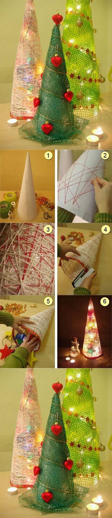 diy string christmas trees pictures photos and images