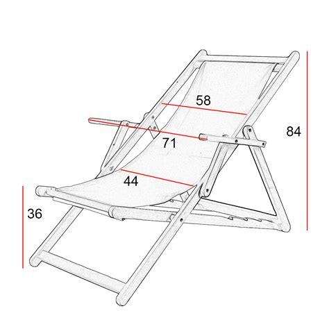 sedia sdraio in legno sdraio da giardino o spiaggia in legno seduta in tessuto