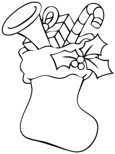coloring page stockings christmas stocking printable az coloring pages