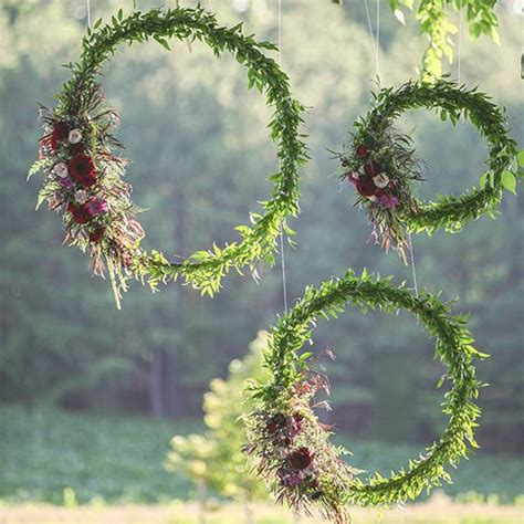 Jewellery Garden Decoration by Hula Hoops Floral Decor Macmay Farm Wedding In 2018