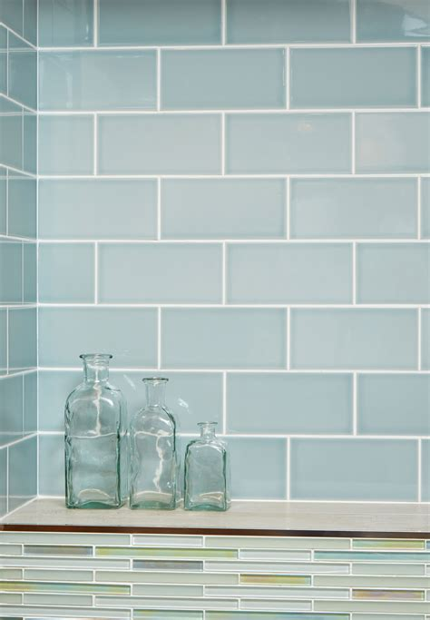 Glass Kitchen Canisters gloss duck egg metro glazed ceramic wall tile suitable