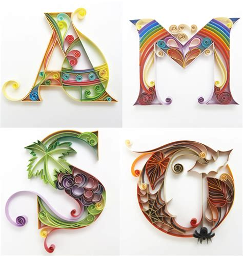 How To Make Paper Quilling Letters - calender cose di carta quilling paper