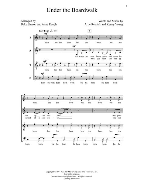 printable lyrics to under the boardwalk under the boardwalk sheet music at stanton s sheet music