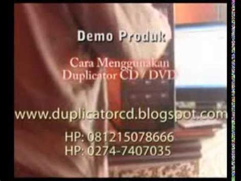 Mesin Duplicator Cd tutorial duplicator duplikator cd dan dvd alat copy cd