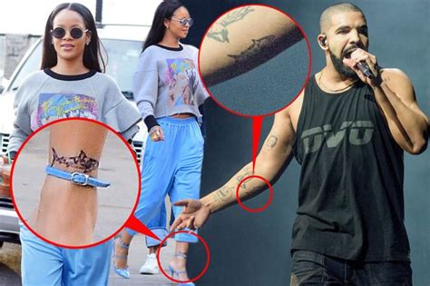 drake rihanna tattoo and rihanna get matching shark tattoos with special
