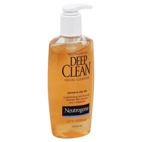 deep clean neutrogena deep clean facial wash 6 oz