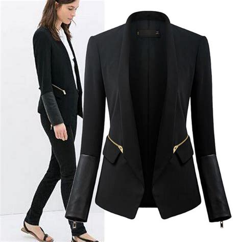 jacket design ladies suits black women slim nanafast long sleeved blazers and jackets