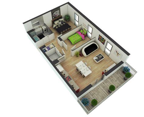 2 Bhk Home Design Layout by Planos De Departamentos Dos Dormitorios Construye Hogar