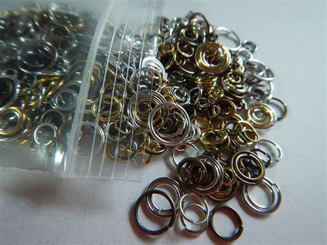 mix copper and gold 250 pc jump ring mix silver copper gold plated metal 3 14mm