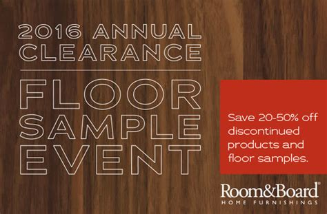 room and board clearance room board s annual clearance floor sle event hoodline