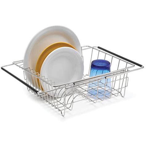 In Sink Dish Rack by Stainless Extendable Sink Dish Rack In Dish Racks
