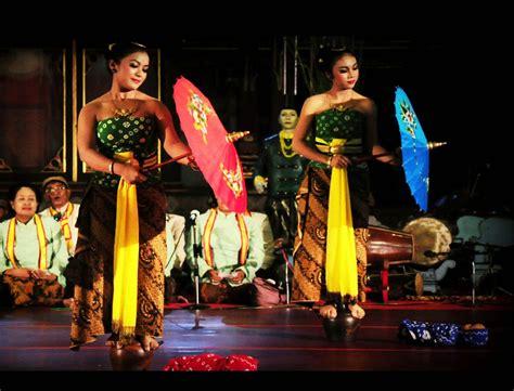 Payung Tari Brukat Hias Tradisional tari bondan tarian tradisional dari jawa tengah negeriku indonesia